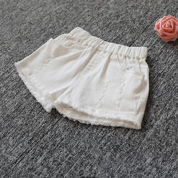 子供服 ショートパンツ デニム 女の子 ショーパン ダメージ加工 半ズボン 夏物 ボトムス ウエストゴム 女児 ハーフパンツ キッズ ジーパン|makonoi|12
