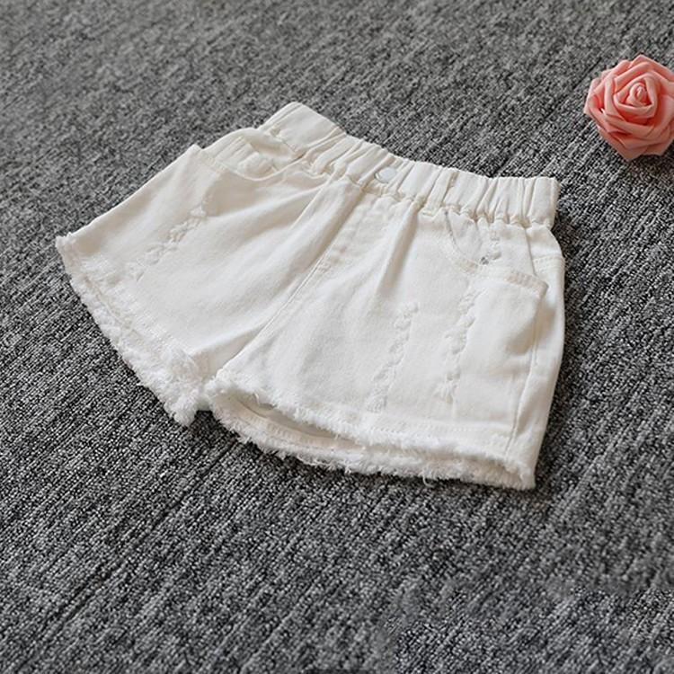 子供服 ショートパンツ デニム 女の子 ショーパン ダメージ加工 半ズボン 夏物 ボトムス ウエストゴム 女児 ハーフパンツ キッズ ジーパン|makonoi|13