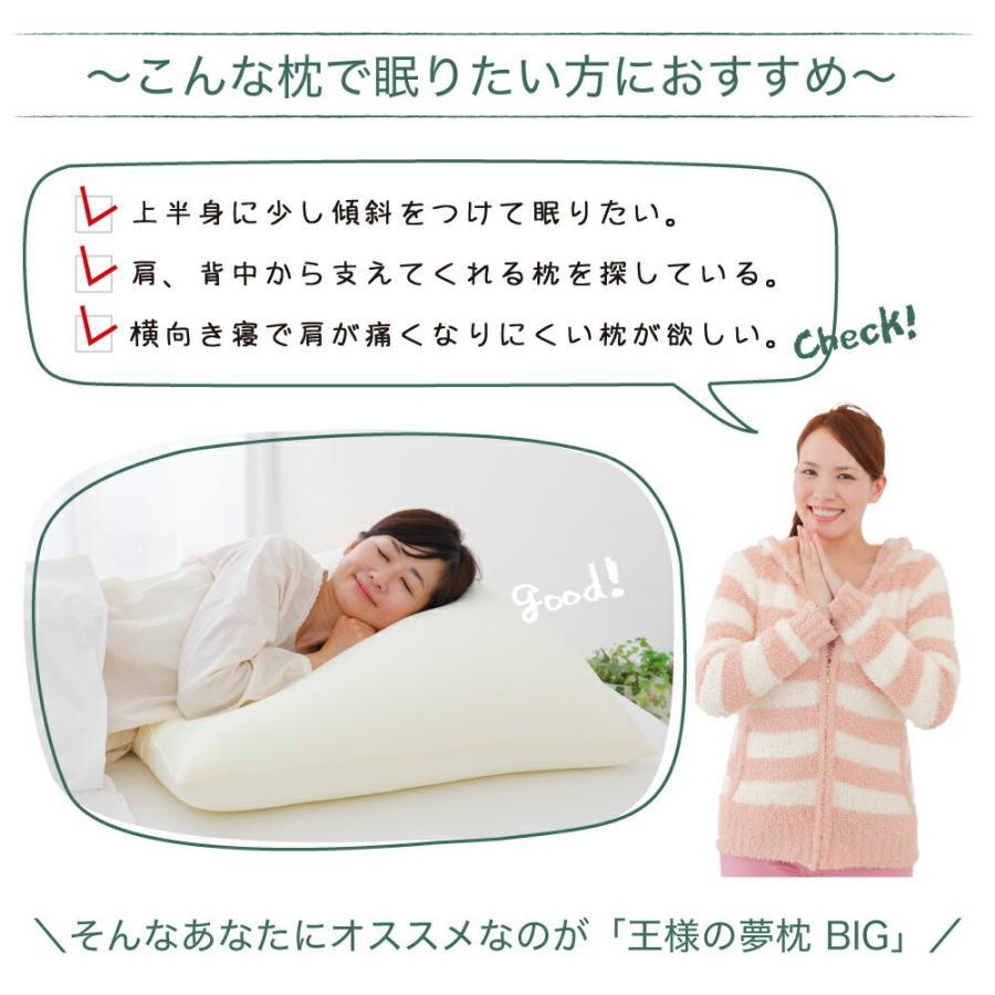 枕 まくら ピロー 王様の夢枕 BIG ビッグ 大きい ハーフボディ 70×70|makura|02