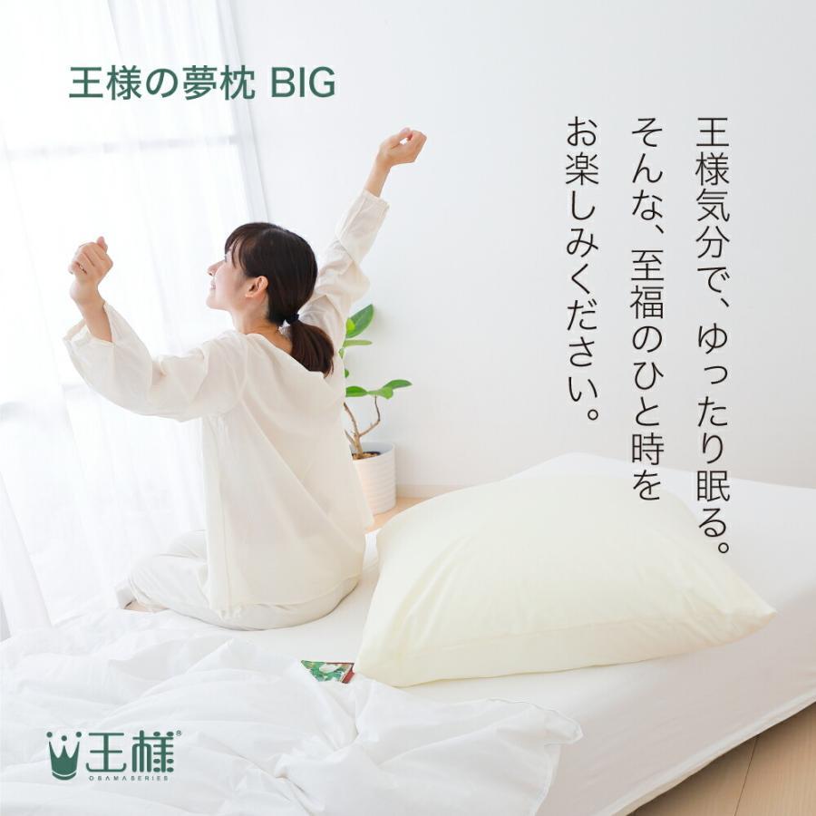 枕 まくら ピロー 王様の夢枕 BIG ビッグ 大きい ハーフボディ 70×70|makura|12