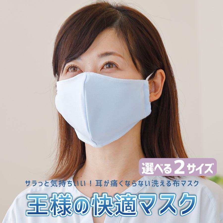 マスク 日本製 夏用 1枚 洗える 東洋紡ドライアイス素材 王様の快適マスク フィルターポケット付|makura