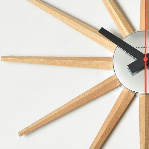 時計 壁掛け時計 おしゃれ オシャレ 北欧 木製 アンティーク調 かけ時計 ブランド リビング シンプル モダン アートワークスタジオ Atras2-clock アトラス2|mamachi|04