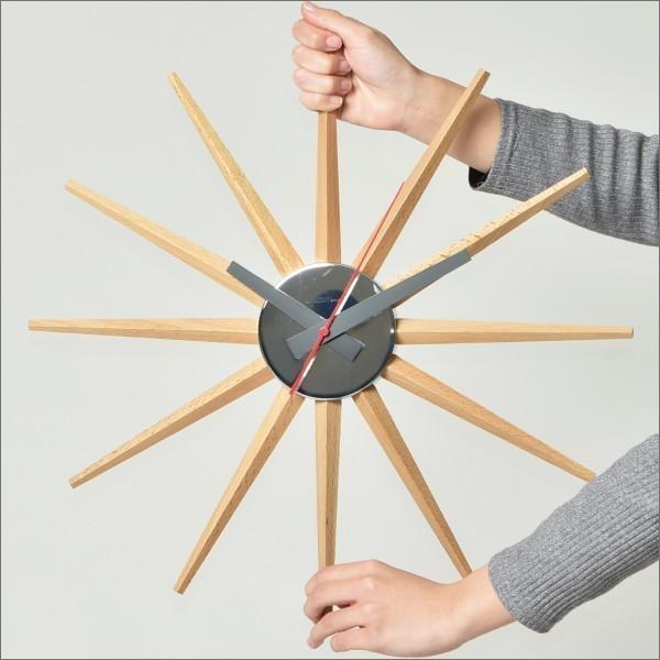 時計 壁掛け時計 おしゃれ オシャレ 北欧 木製 アンティーク調 かけ時計 ブランド リビング シンプル モダン アートワークスタジオ Atras2-clock アトラス2|mamachi|05