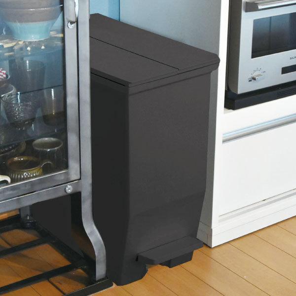 ゴミ箱  スリム おしゃれ キッチン 分別 約幅30cm 両開き フタ 45L 45Lリットル 日本製 カウンター下 収納 ( SOLOWペダルオープンツイン 45L 2個セット)|mamachi|02