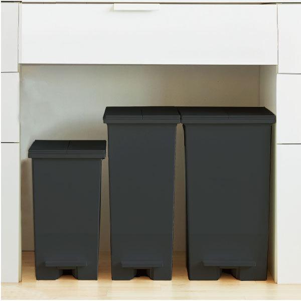 ゴミ箱  スリム おしゃれ キッチン 分別 約幅30cm 両開き フタ 45L 45Lリットル 日本製 カウンター下 収納 ( SOLOWペダルオープンツイン 45L 2個セット)|mamachi|12