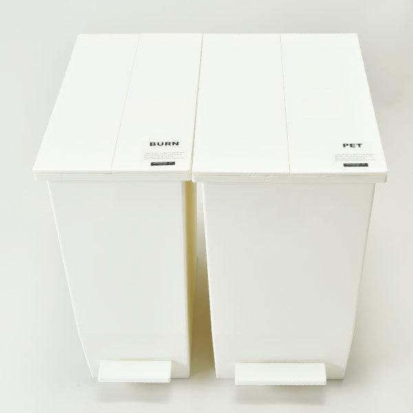 ゴミ箱  スリム おしゃれ キッチン 分別 約幅30cm 両開き フタ 45L 45Lリットル 日本製 カウンター下 収納 ( SOLOWペダルオープンツイン 45L 2個セット)|mamachi|13