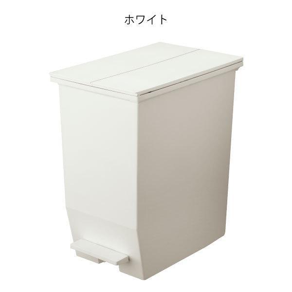 ゴミ箱  スリム おしゃれ キッチン 分別 約幅30cm 両開き フタ 45L 45Lリットル 日本製 カウンター下 収納 ( SOLOWペダルオープンツイン 45L 2個セット)|mamachi|18