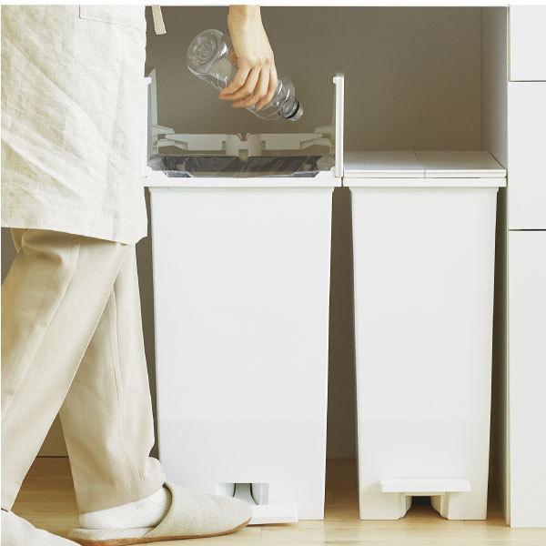 ゴミ箱  スリム おしゃれ キッチン 分別 約幅30cm 両開き フタ 45L 45Lリットル 日本製 カウンター下 収納 ( SOLOWペダルオープンツイン 45L 2個セット)|mamachi|06