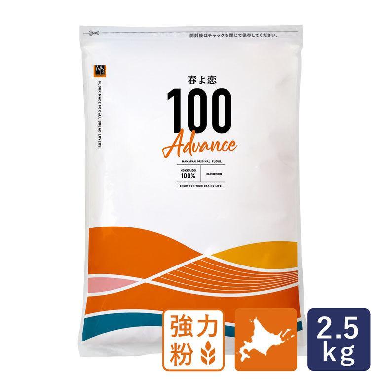 強力粉 春よ恋100 北海道産パン用小麦粉 2.5kg 国産小麦粉|mamapan