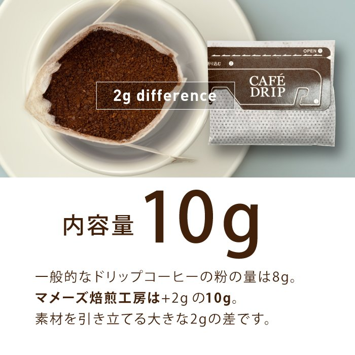 ドリップコーヒー お試し 1000円 ぽっきり たっぷり10g 4種10個詰め合わせ マメーズ オリジナルドリップ ドリップバッグ ポイント消化 買い回り 送料無料 セール|mames|11