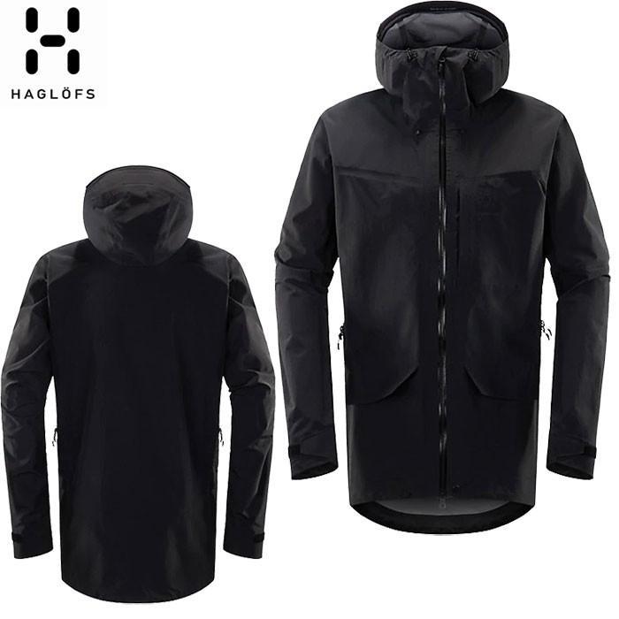 HAGLOFS ホグロフス GRYM EVO JACKET MEN 雨具 レインコート レインジャケット (TRUE BLACK):604254