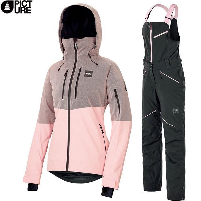 PICTURE ピクチャー SIGNE JKT+HAAKON BIB 2019-2020 上下セット WOMEN スキーウェア 女性用 2019/2020 FW :WVT152&WPT060