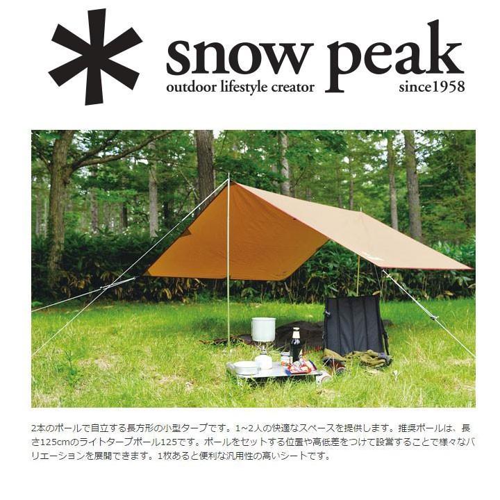SNOWPEAK スノーピーク ライトタープポール 125×2本セット (SLV):TP-161|mammutstore-paddle|02