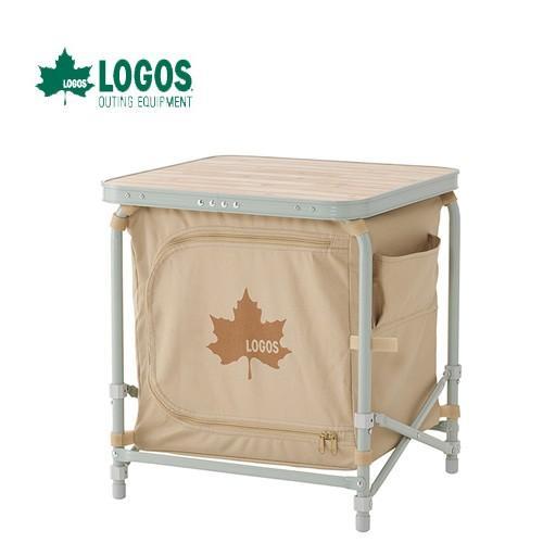 LOGOS ロゴス LOGOS Life モバイルラックテーブル キャンプ 調理 コンパクト 洗える (onecolor):73180037