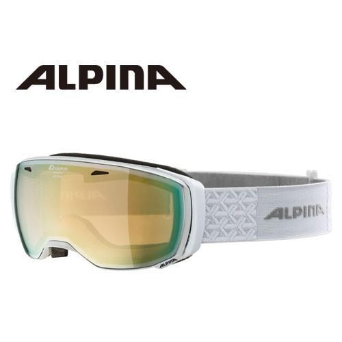 ALPINA アルピナ ESTETICA HM パールホワイト 球面 ミラー ゴーグル スキー:
