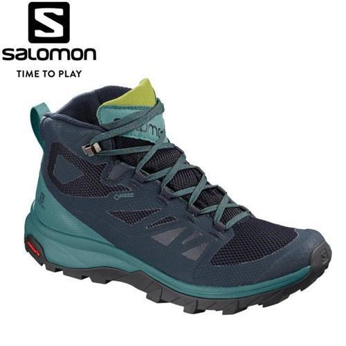 SALOMON サロモン OUTline MID GORE-TEX W ゴアテックスW レディース トレッキング シューズ 登山靴 防水 ミッドカット (onecolur):L40484600