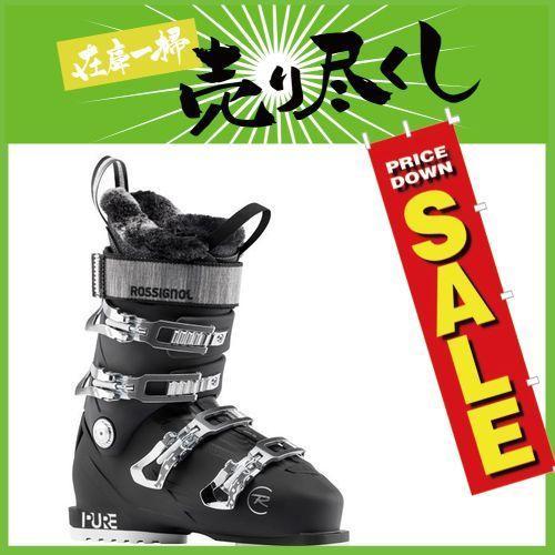 【時間指定不可】 ROSSIGNOL ロシニョール 19-20 スキーブーツ 2020 PURE PRO 80 ピュアプロ Black レディース オールラウンド (Black):, 南串山町 8c19529b