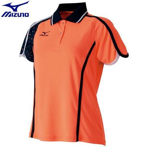 ミズノ MIZUNO ソーラーカットゲームシャツ(ラケットスポーツ)[レディース](52)ルミナスオレンジ 62JA721452