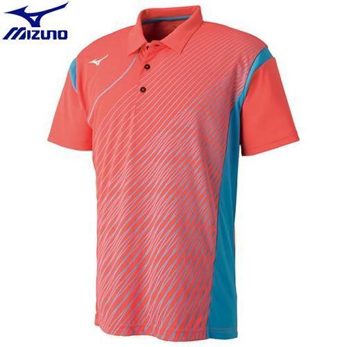 ミズノ MIZUNO ゲームシャツ(ラケットスポーツ)[ユニセックス](54)ファイアリーコーラル 62JA800354