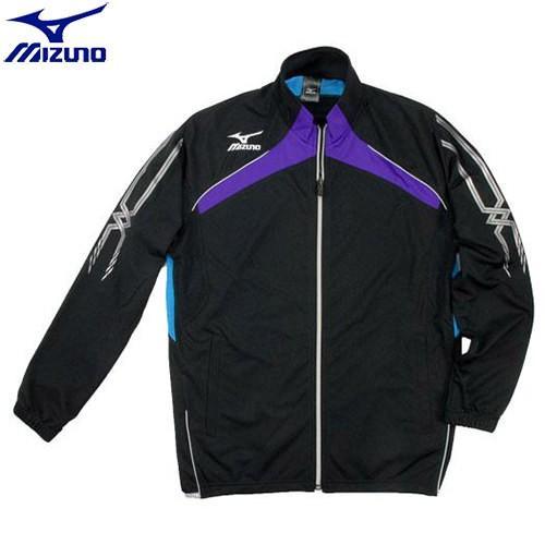 ミズノ MIZUNO ウォームアップシャツ(2014年卓球日本代表モデル)(98)ブラック×パープル 82JC400198