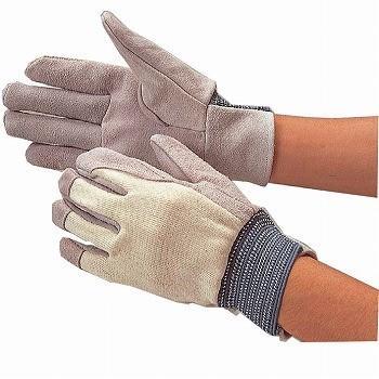 牛床革手袋 おたふく手袋 内縫い革手袋 甲メリヤス [200双入] 403 甲メリヤス(甲側布製)
