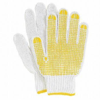 滑り止め軍手(ビニボツ) おたふく手袋 スベリ止作業手袋 [480双入] 900 混紡(コンボー) 厚手
