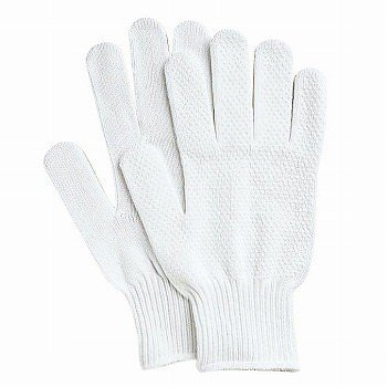 滑り止め軍手(ビニボツ) おたふく手袋 バイクノンスリップ [480双入] 515 純綿 薄手