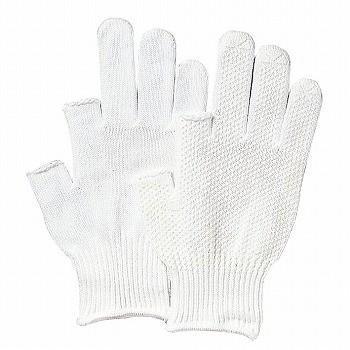 滑り止め軍手(ビニボツ) おたふく手袋 2本指出し手袋(スベリ止付) [400双入] 475 純綿 薄手
