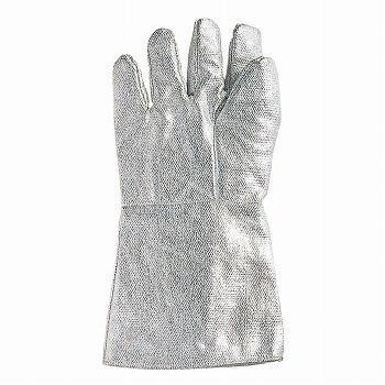 おたふく手袋 耐熱アルミ手袋 5本指35cm [30双入] D