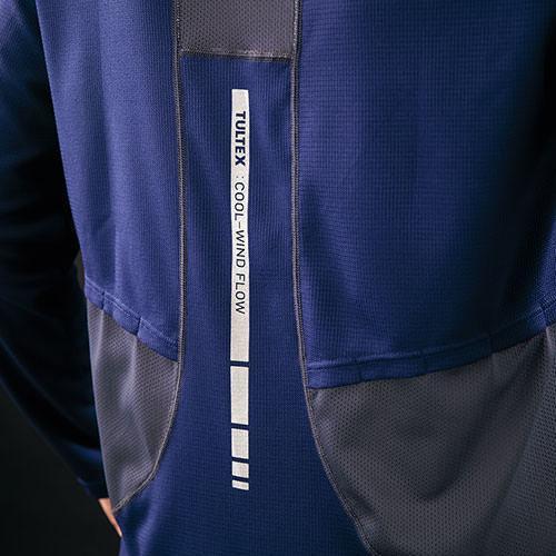 AITOZ アイトス TULTEX 空調服用長袖メッシュTシャツ AZ-551049 mamoru-k 06