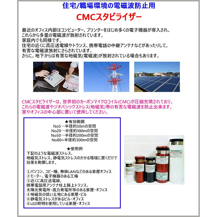 CMC 置き型 広範囲 電磁波防止 スタビライザー No.5 半径50m 5g充填  5G 電磁波対策 電磁波ストレス 電磁波カット manai 10
