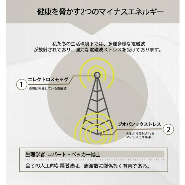 CMC 置き型 広範囲 電磁波防止 スタビライザー No.5 半径50m 5g充填  5G 電磁波対策 電磁波ストレス 電磁波カット manai 05
