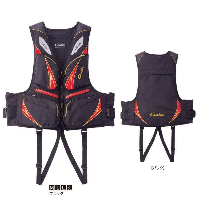 がまかつ フローティングベストGM-2191 ブラックLサイズ|manboo-shop