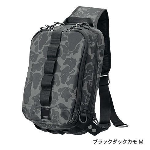 シマノ スリングショルダーバッグBS-025T Mサイズ ブラックダックカモ manboo-shop