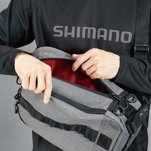 シマノ スリングショルダーバッグBS-025T Mサイズ ブラックダックカモ manboo-shop 06