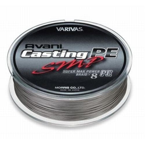 VARIVAS(バリバス) PEライン アバニ キャスティングPE スーパーマックスパワー 500m 3号 MAX50lb 8本 ステルスグレー