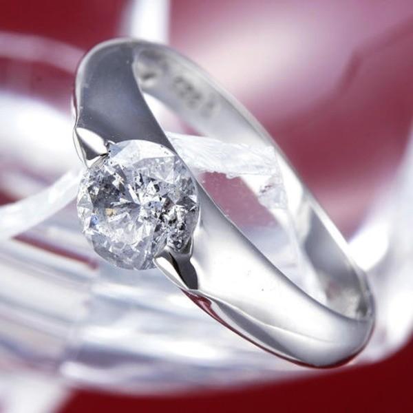 【再入荷!】 PT900(プラチナ)0.9ctダイヤリング 指輪 159713 11号〔鑑別書付き〕, バラと天使ケンジントンガーデンズ 303264f5