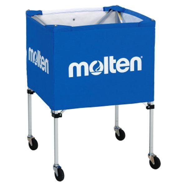 〔モルテン Molten〕 折りたたみ式 ボールカゴ 〔屋外用 ブルー〕 幅63×奥行63cm キャスター ケース付き