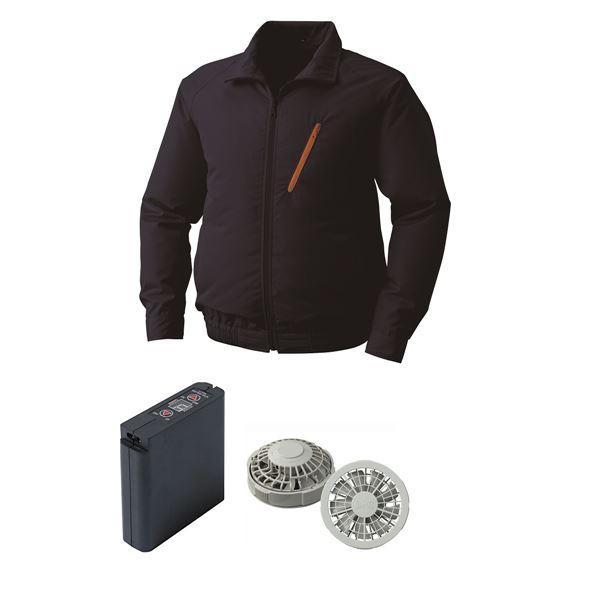 空調服 ポリエステル製空調服 大容量バッテリーセット ファンカラー:グレー 0510G22C03S4 〔カラー:ネイビー サイズ:2L〕
