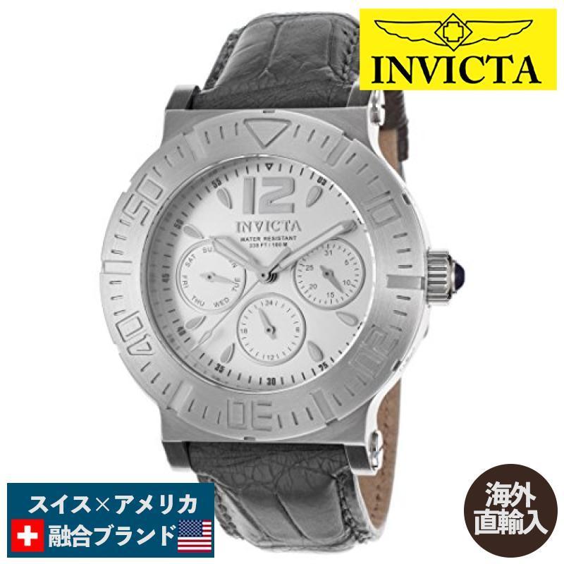 【破格値下げ】 当店1年保証 インヴィクタInvicta Specialty Multi-Function Silver Dial Grey Leather Ladies Watch 14919, 名入れギフトと表札 アトリエkana aa84f48a