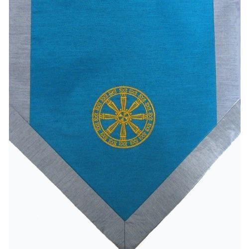 ヨガ フィットネス new Boon Decor Altar Cloth Or Wall Hangings - Embroidered - Wheel of Dharma - Teal