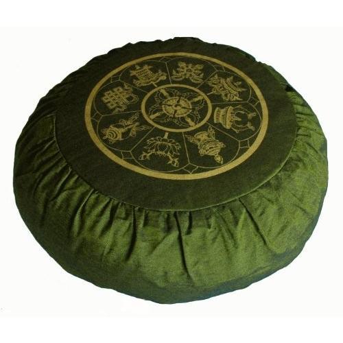 ヨガ フィットネス TS080D Boon Decor Meditation Cushion Zafu Buckwheat Pillow Eight Auspicious Sacred S