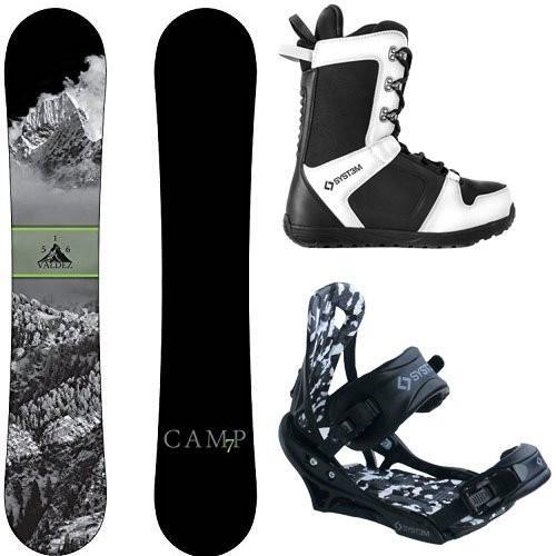 【高額売筋】 スノーボードCamp Seven Package Valdez CRC Snowboard-163 cm Wide-System APX Bindings-System APX Snowboard Boots 13, 波野村 5587c2b2