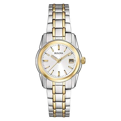 【高価値】 当店1年保証 ブローバBulova Women's 98M105 Silver Dial Bracelet Watch, 臼田町 3a3caa85
