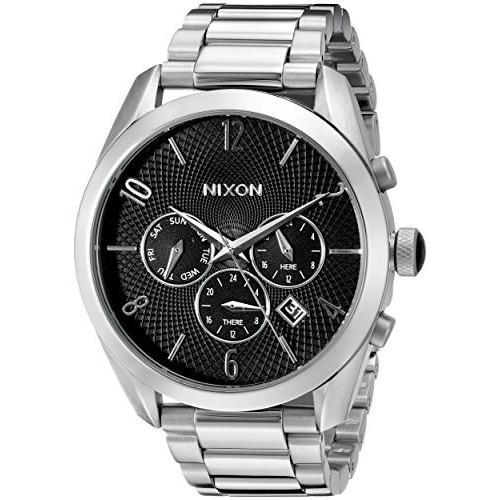 新しい到着 当店1年保証 ニクソンNixon Women's A366000 Bullet Chrono Analog Display Japanese Quartz Silver Watch, しのびや 982f1d0b