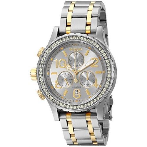 高品質の人気 当店1年保証 ニクソンNixon Women's A4041921 38-20 Chrono Watch, Silver/Gold, ロクセイマチ 8824c152