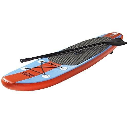 春先取りの スタンドアップパドルボードNorth Gear 8FT Inflatable SUP Stand up Paddle Board Package Ocean Blue/Orange, 最安値挑戦! 46047282