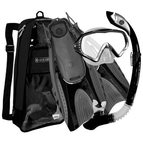 春夏新作 シュノーケリングU.S. Divers Purge Mask, Hingeflex Fins, Bag, Dry with Snorkel Snorkel Set, with Snorkeling Gear Bag, BK-SM, サプリメントai:6b536d76 --- airmodconsu.dominiotemporario.com