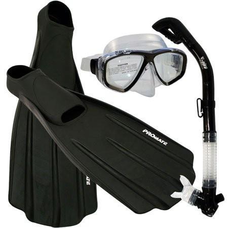 最新デザインの シュノーケリングPromate Snorkeling Foot Full Foot Fins Mask Dry Snorkel 12-14 Snorkel Gear Set, Black, 11-13 Mens, 12-14 WMNS, コウベシ:bc9a30a1 --- airmodconsu.dominiotemporario.com