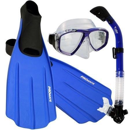 新作からSALEアイテム等お得な商品満載 シュノーケリングPromate Snorkeling Full Foot Fins Mask Dry WMNS Snorkeling Snorkel Gear Full Set, Blue, 11-13 Mens, 12-14 WMNS, FeelFORCE:a3b3a4e0 --- airmodconsu.dominiotemporario.com